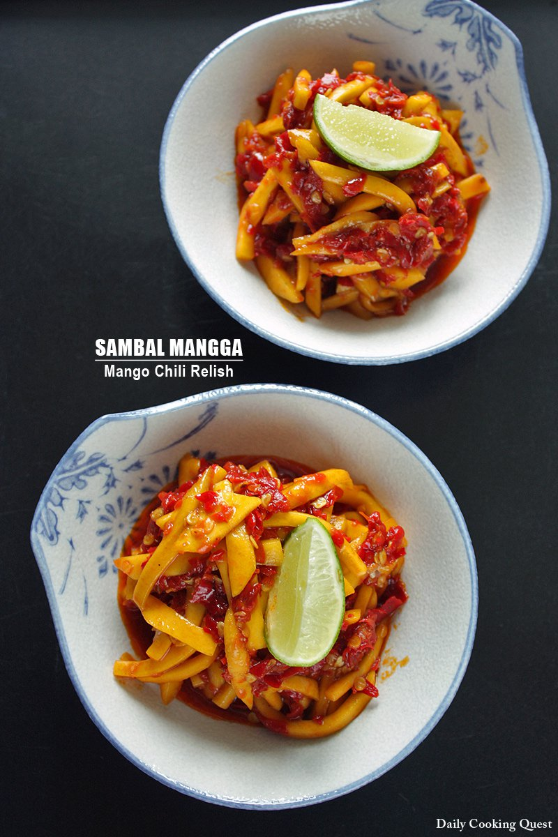 Sambal Mangga Muda : sambal, mangga, Sambal, Mangga, Mango, Chili, Relish, Recipe, Daily, Cooking, Quest