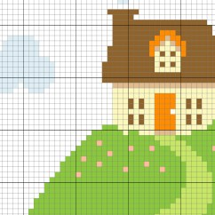 Needlepoint Stitches Stitch Diagrams Toyota Fujitsu Ten 86140 Wiring Diagram House On A Hill Cross Pattern  Daily