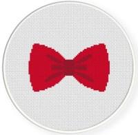 Red Bow Tie Cross Stitch Pattern  Daily Cross Stitch