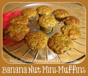 Banana Nut Mini-Muffin Recipe
