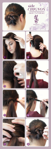 Side Chignon–The French Bun Hair Tutorial
