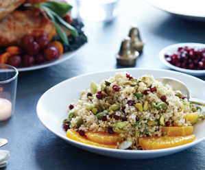 Gluten-Free Quinoa With Pomegranate & Pistachio Recipe