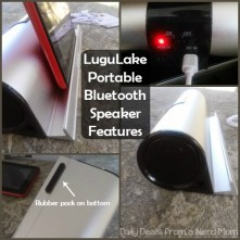 LuguLake Portable Bluetooth Speaker With Stand Dock