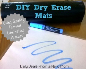 DIY Dry Erase Mats with Quality Thermal Laminating Pouches