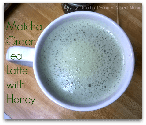 Matcha Green Tea Latte with Honey Recipe >> Daily Deals from a Nerd Mom