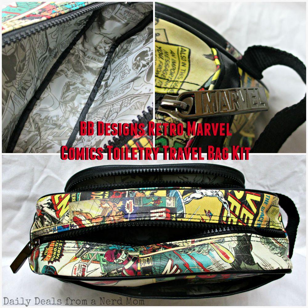 BB Designs Retro Marvel Comics Toiletry Travel Bag Kit