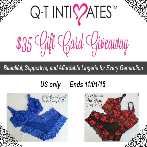 Q-T Intimates Giveaway {US Only Ends 11/1/15}