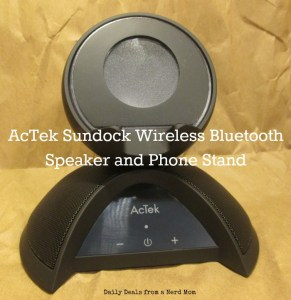 AcTek Sundock Wireless Bluetooth Speaker and Phone Stand