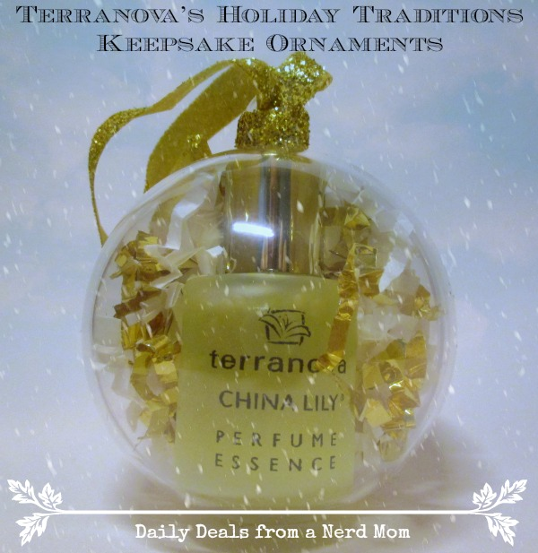 Holiday Traditions Keepsake Ornaments with Perfume Oil by Terranova