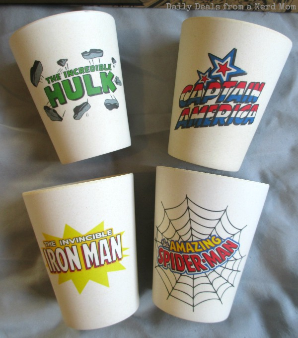 Marvel 4 pc. 10 oz. Bamboo Cup Set
