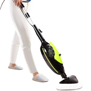 SKG 1500W Non-Chemical 212F Hot Steam Mops, Carpet and Floor Cleaning Machine (6-in-1 Accessories)