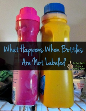 What Happens When Bottles Are Not Labeled