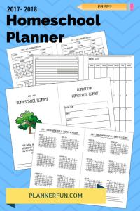FREE 2017 - 2018 Homeschool Planner