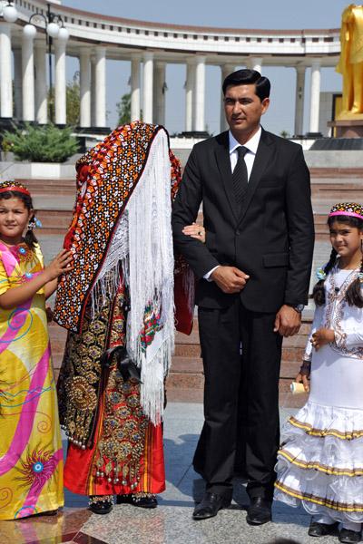 Turkmen bridal dress
