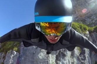 Go-PRO - Wingsuit Flight in der Schweiz