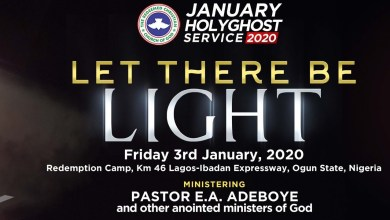 RCCG January 2020 Holy Ghost Service – LIVE Broadcast
