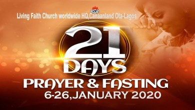Winners 21-Day Prayer and Fasting Points 23 January 2020 – Day 18, Winners 21-Day Prayer and Fasting Points 23 January 2020 – Day 18