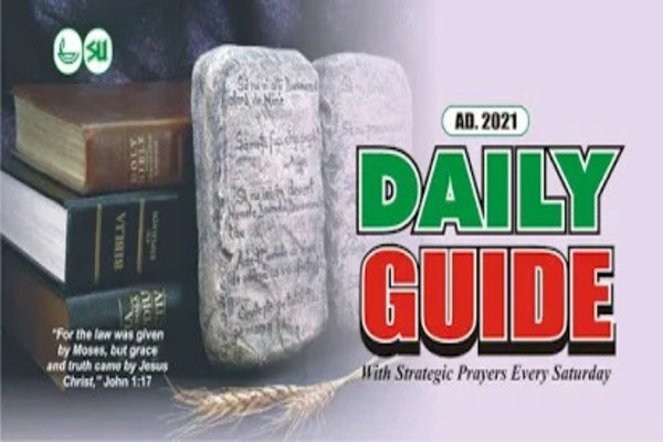 Scripture Union (SU) Daily Guide 2 May 2021 - As The Lord Had Said