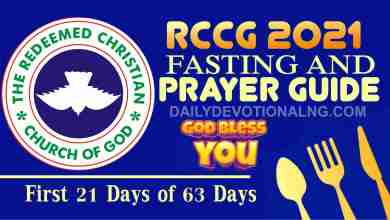 Day 5: RCCG 15th January 2021 Fasting And Prayer Points Guide Complete, Day 5: RCCG 15th January 2021 Fasting And Prayer Points Guide Complete