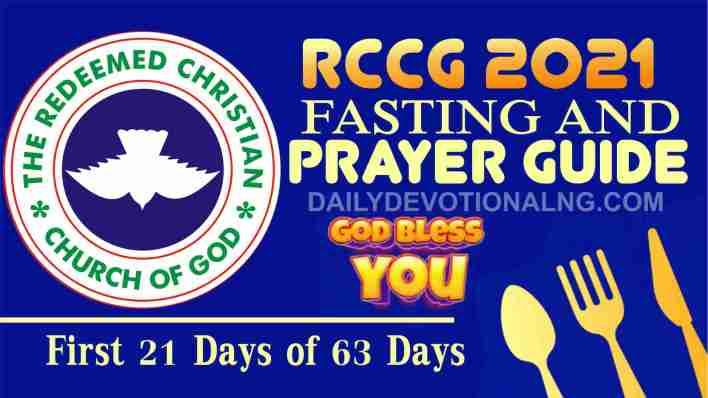 Day 4: RCCG 14th January 2021 Fasting And Prayer Points Guide Complete, Day 4: RCCG 14th January 2021 Fasting And Prayer Points Guide Complete