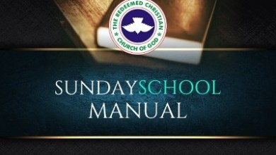 RCCG Sunday School TEACHER Manual 16th May 2021
