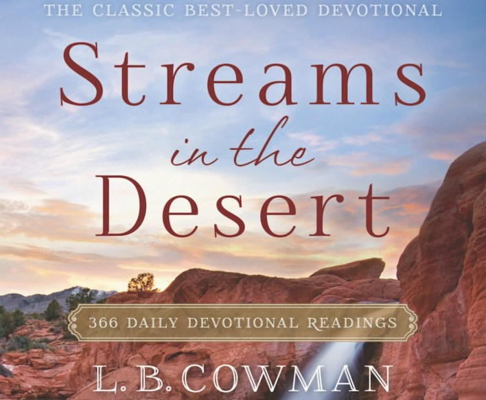 Streams In The Desert 31st March 2021 Devotional - Security in Storms