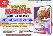 Our Daily Manna (ODM Online) 17th April 2021 Saturday Devotional - The Deliverance of the Head (1) written by Bishop Cris Kwakpovwe.