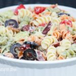 Creamy Bacon Avocado Pasta Salad #SundaySupper