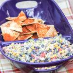 Potluck Corn, Black Bean & Cilantro Salsa Dip for a Crowd + Crock-pot #Giveaway
