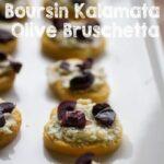 Boursin Kalamata Olive Bruschetta #BoursinCheese