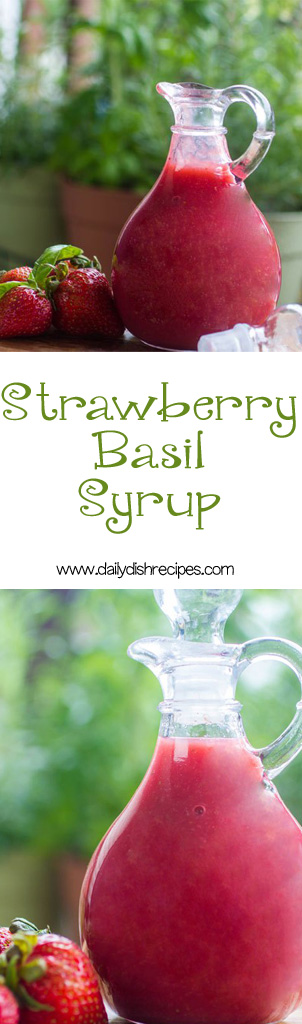 Strawberry Basil Syrup