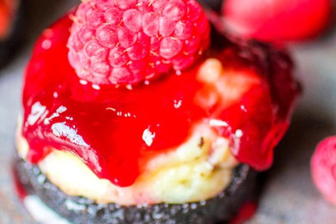 Mini Raspberry Cheesecakes