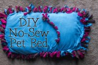 DIY No-Sew Pet Bed with Purina Dog Chow Natural