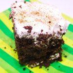 Chocolate Eggnog Poke Cake #SundaySupper