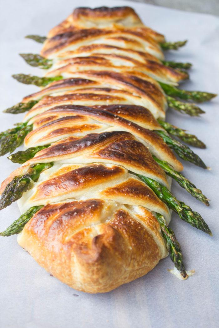 Asparagus Ham and Swiss Danish Braid