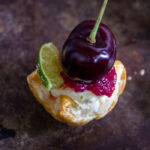 Cherry Lime Puff Pastry Tarts #SummerDessertWeek