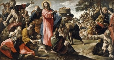 The feeding of the 5000.  Daily distress satirical articles - Jesus' Diary