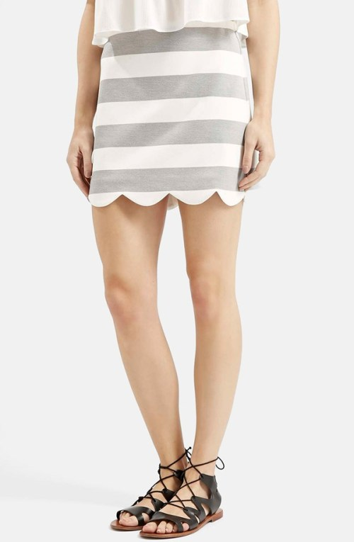 top shop scalloped skirt