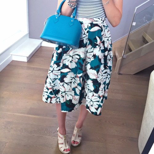 forever 21 floral a line skirt outfit louis vuitton
