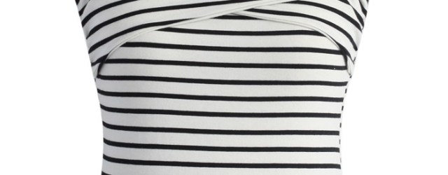chicwish cold shoulder striped top