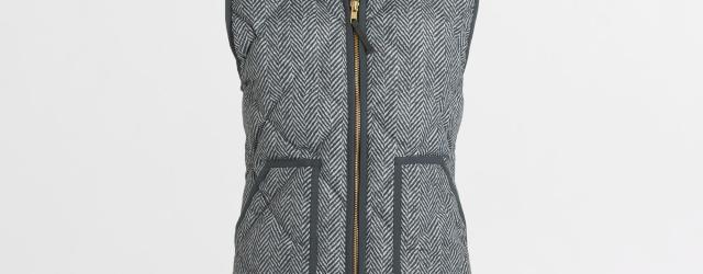 jcrew herringbone vest