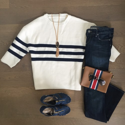 chicwish striped sweater flares outfit
