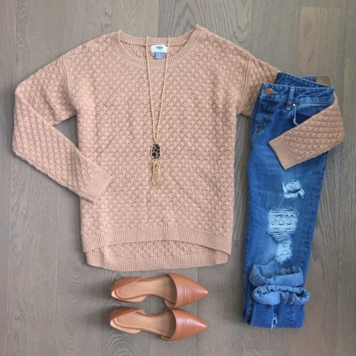 zara jeans old navy sweater outfit