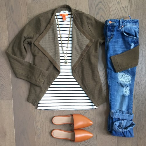 Old Navy mules striped tank outfit