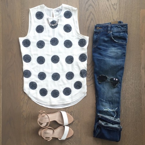 hm polka dot top outfit