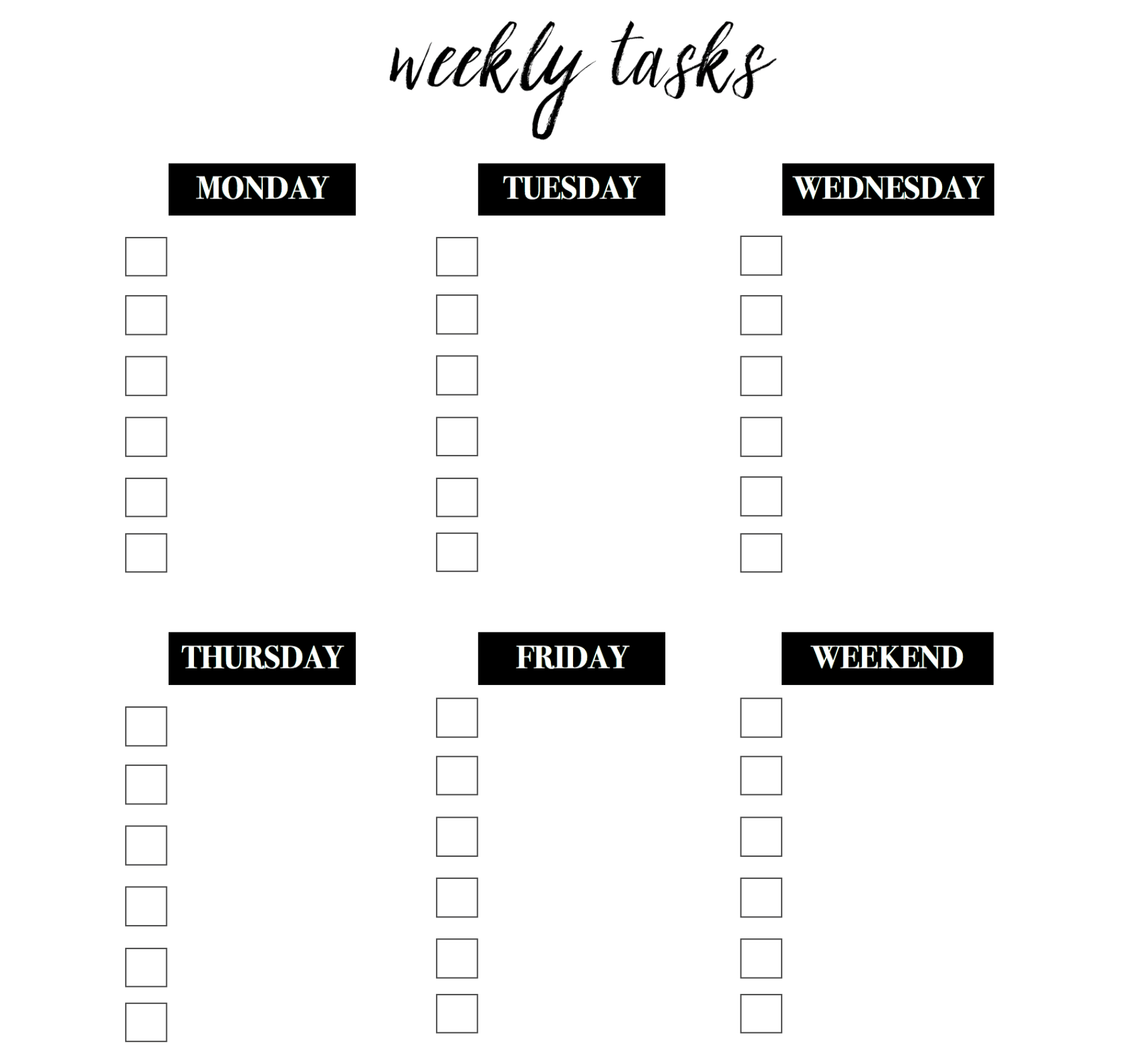 Weekly Goal Template + 10 Healthy Habits You Need to Add