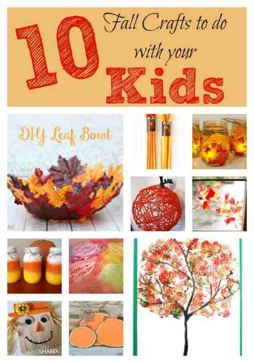 10 Fun and Easy Fall Crafts to do with your Kids