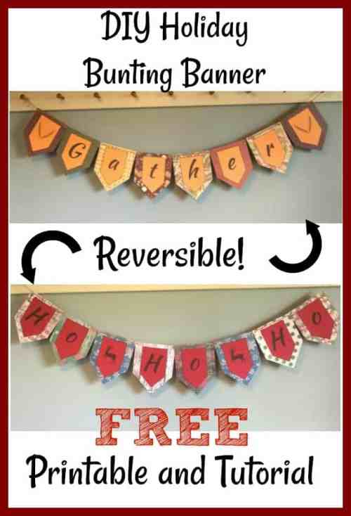DIY Holiday Banner Flip from Thanksgiving to Christmas