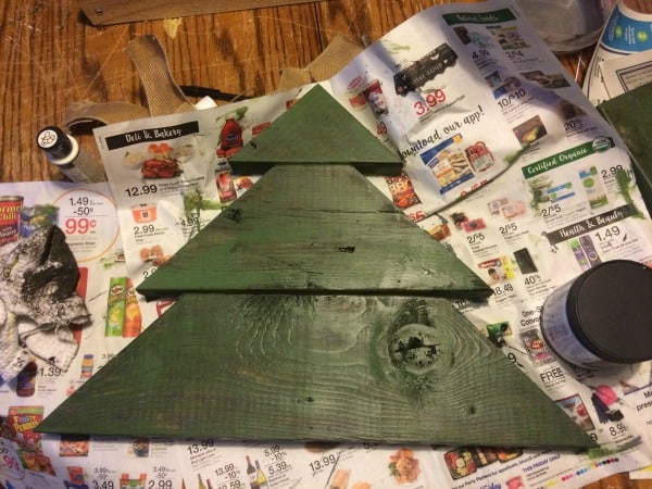 Rustic christmas Tree Antique Glaze