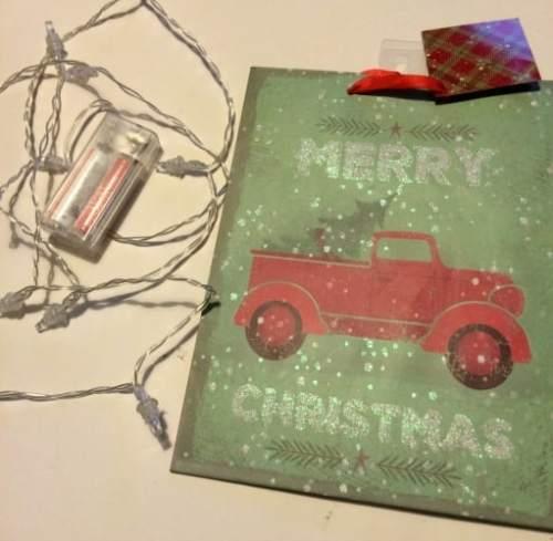 Upcycled Christmas Gift Bag